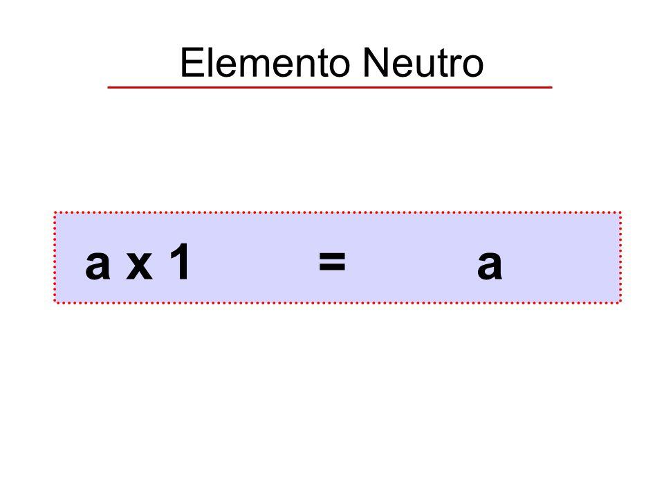 Elemento Neutro a x 1 = a