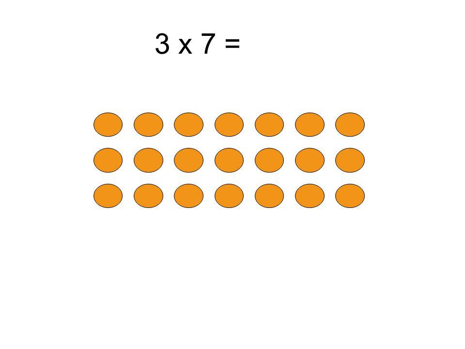3 x 7 = 3 x 8