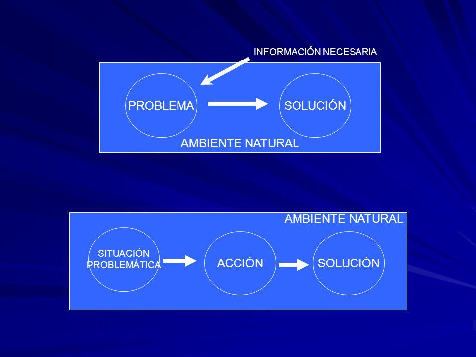 AMBIENTE NATURAL PROBLEMA SOLUCIÓN AMBIENTE NATURAL ACCIÓN SOLUCIÓN