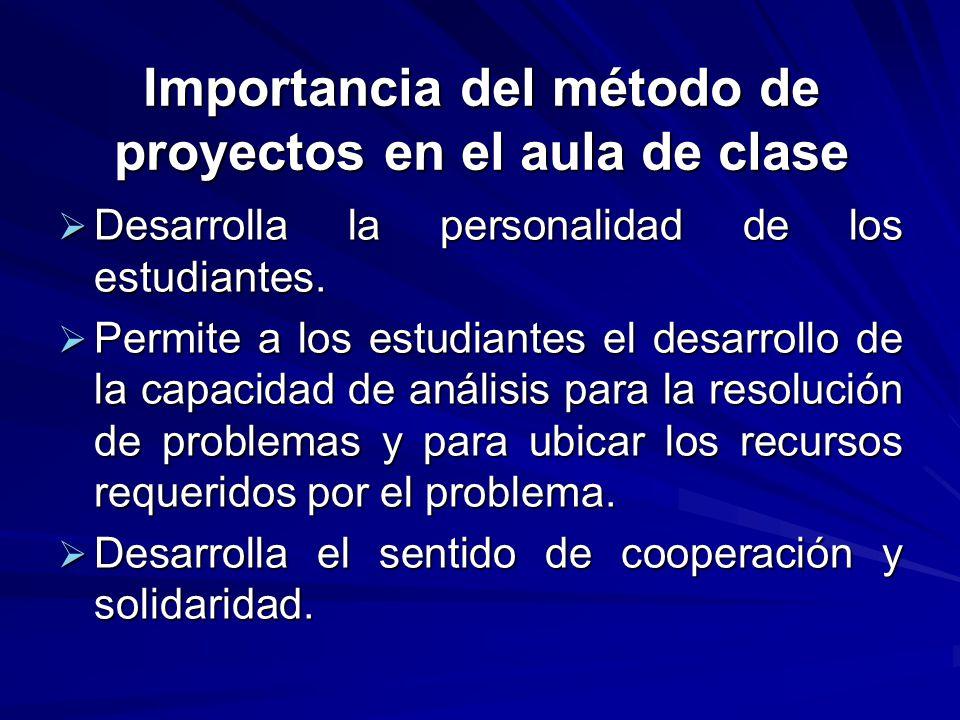Importancia del método de proyectos en el aula de clase