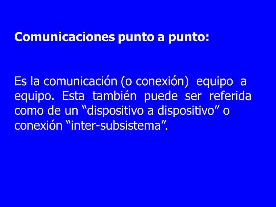 Comunicaciones punto a punto: