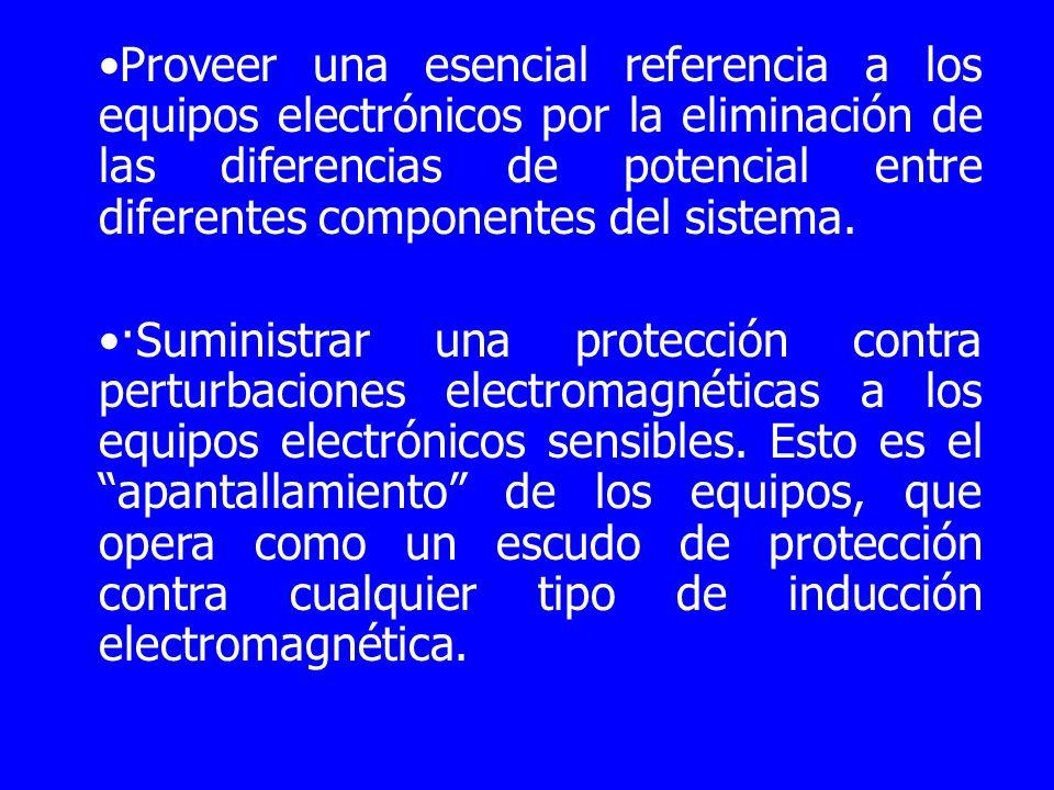Proveer una esencial referencia a los equipos electrónicos por la eliminación de las diferencias de potencial entre diferentes componentes del sistema.