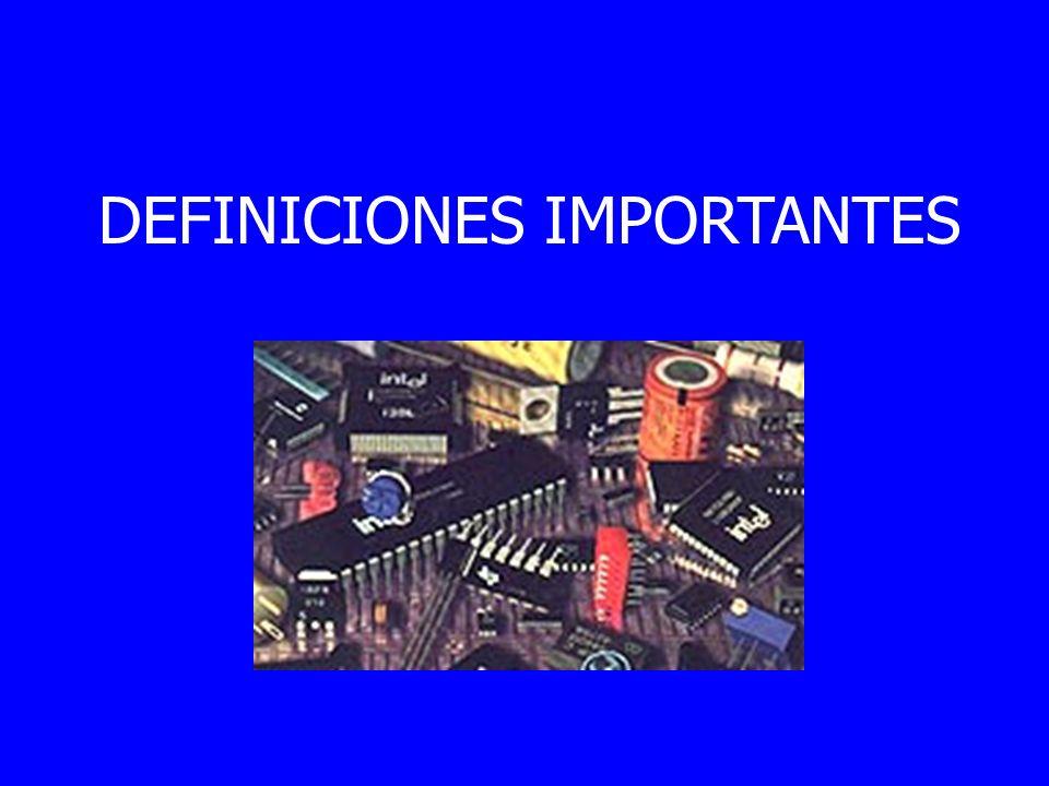 DEFINICIONES IMPORTANTES