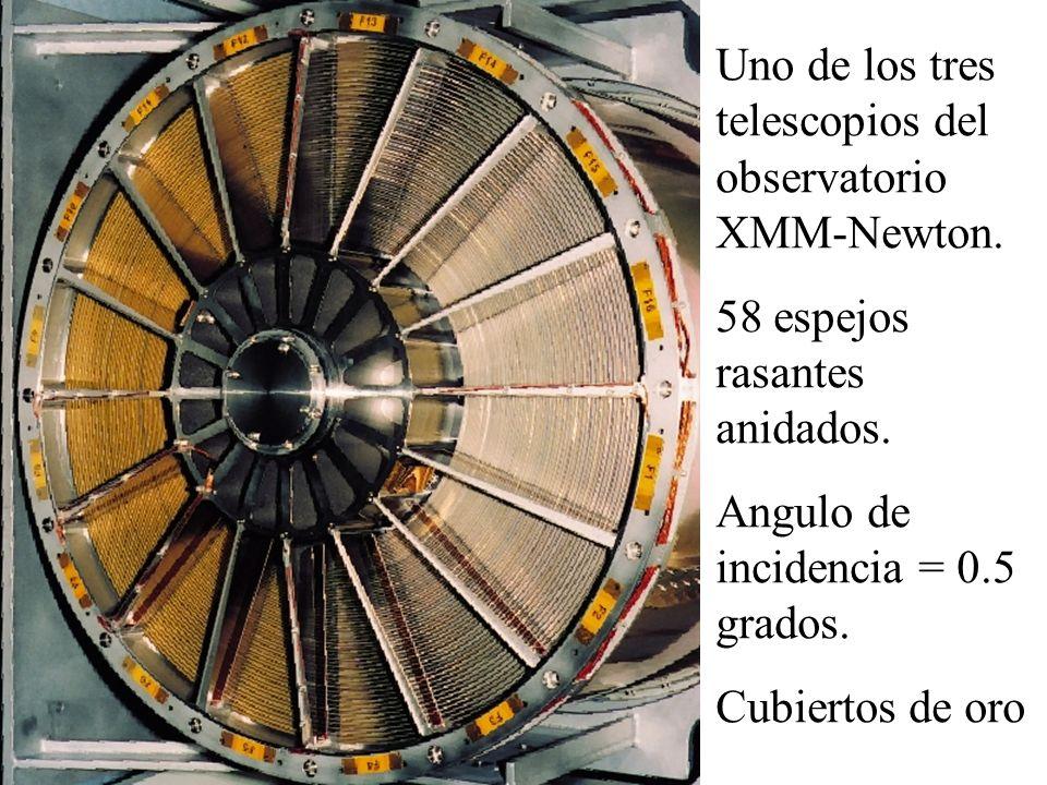 Uno de los tres telescopios del observatorio XMM-Newton.