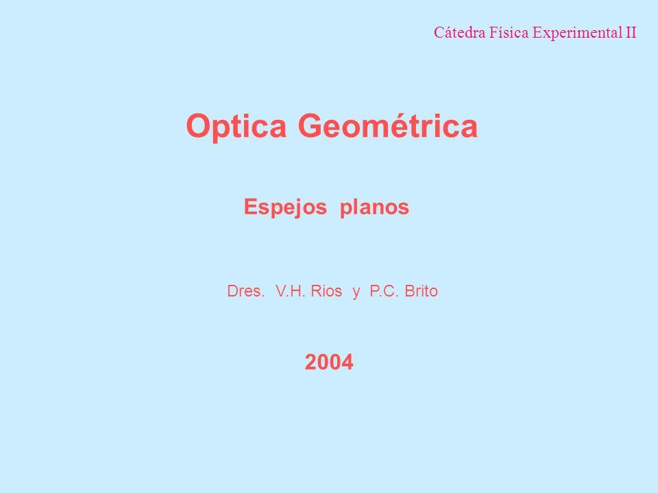 Optica Geométrica Espejos planos 2004 Cátedra Física Experimental II