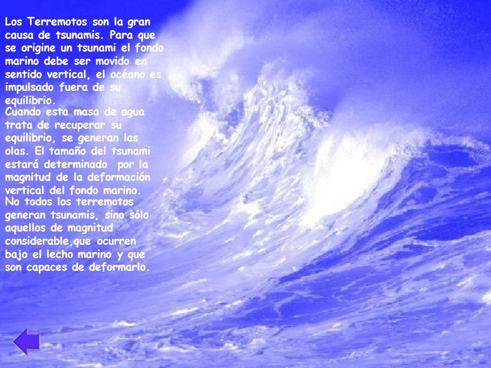 Los Terremotos son la gran causa de tsunamis