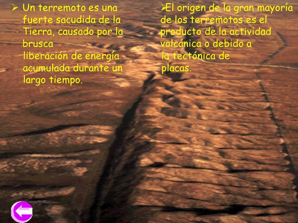 Un terremoto es una fuerte sacudida de la Tierra, causado por la brusca