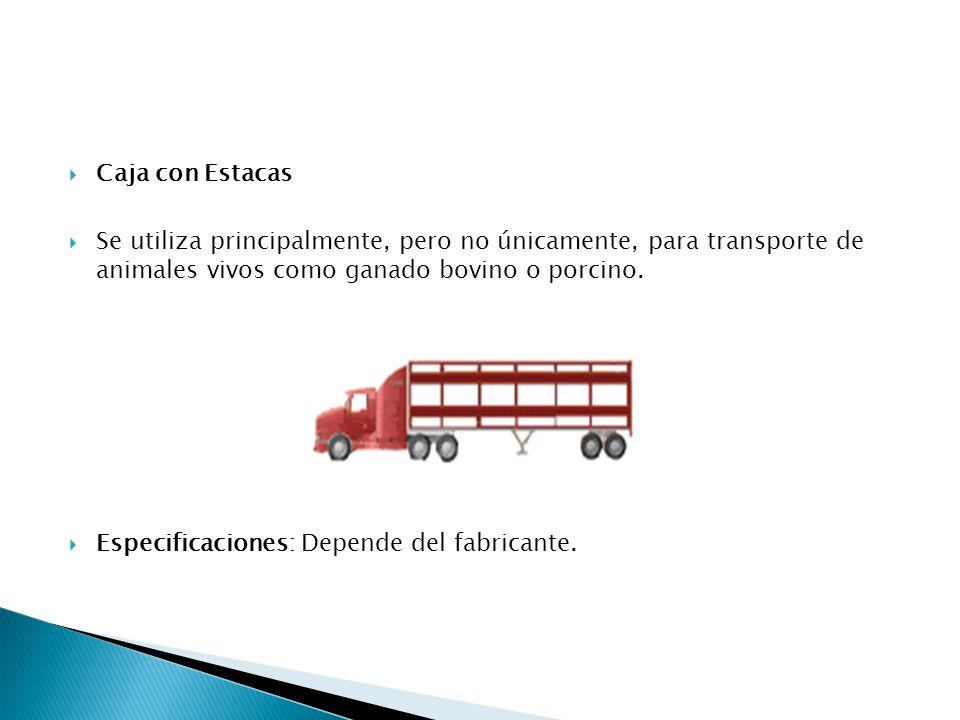 Caja con Estacas Se utiliza principalmente, pero no únicamente, para transporte de animales vivos como ganado bovino o porcino.