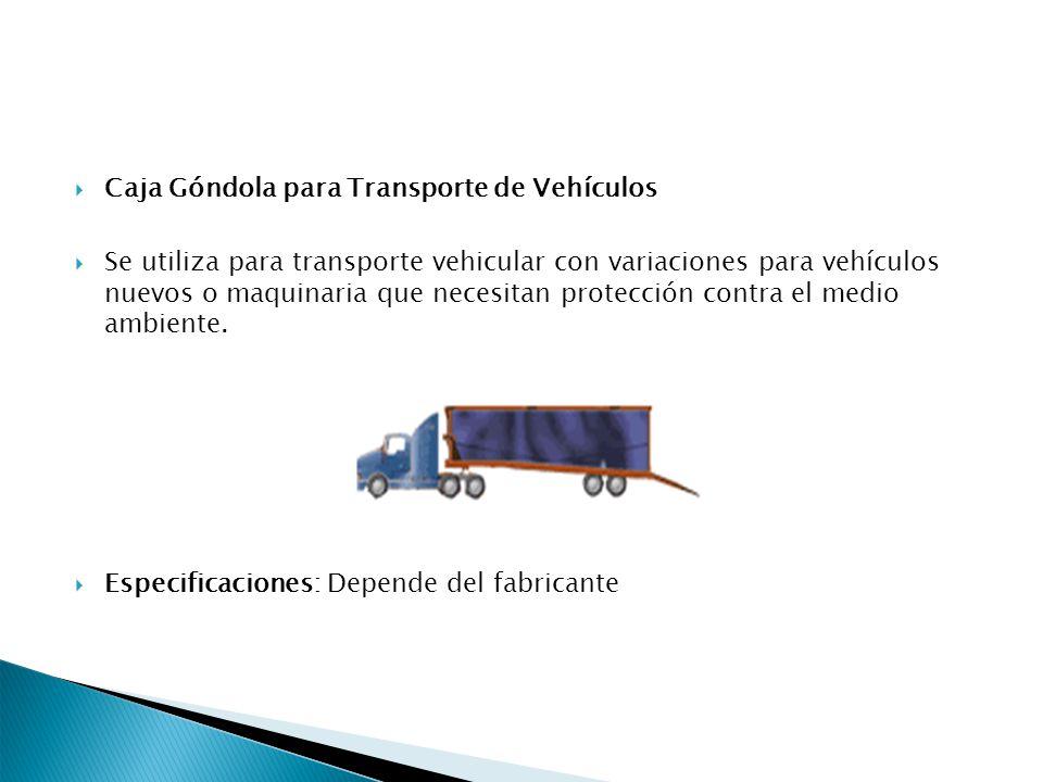 Caja Góndola para Transporte de Vehículos