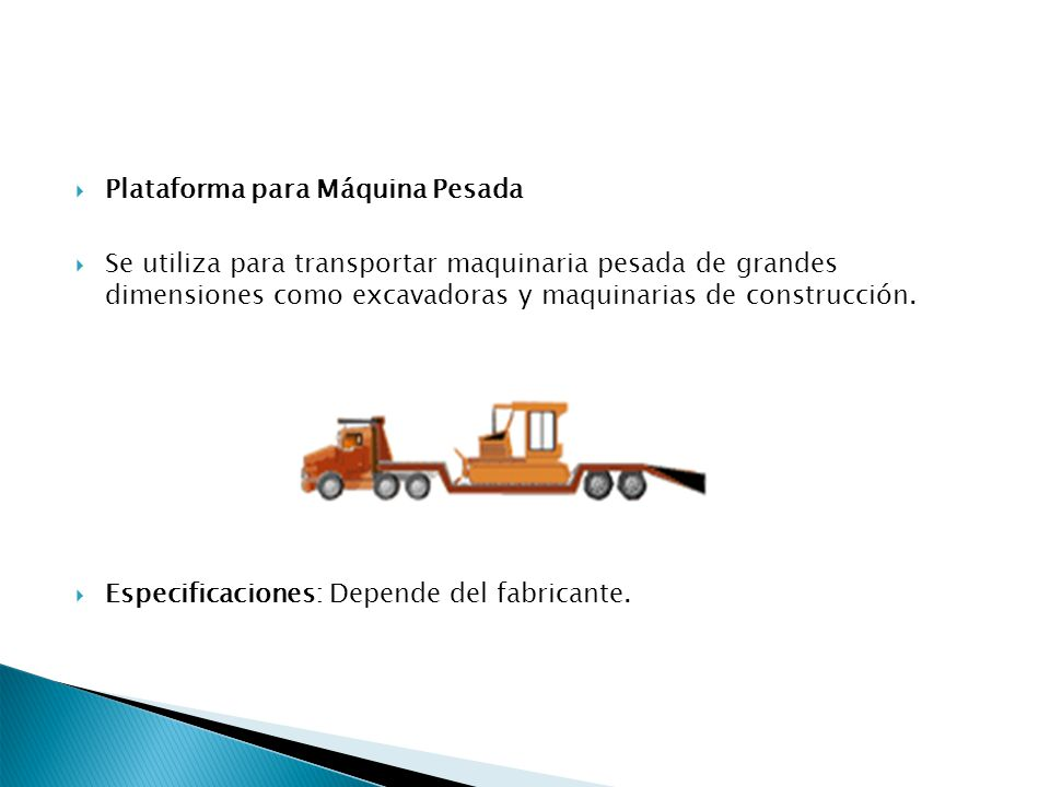 Plataforma para Máquina Pesada