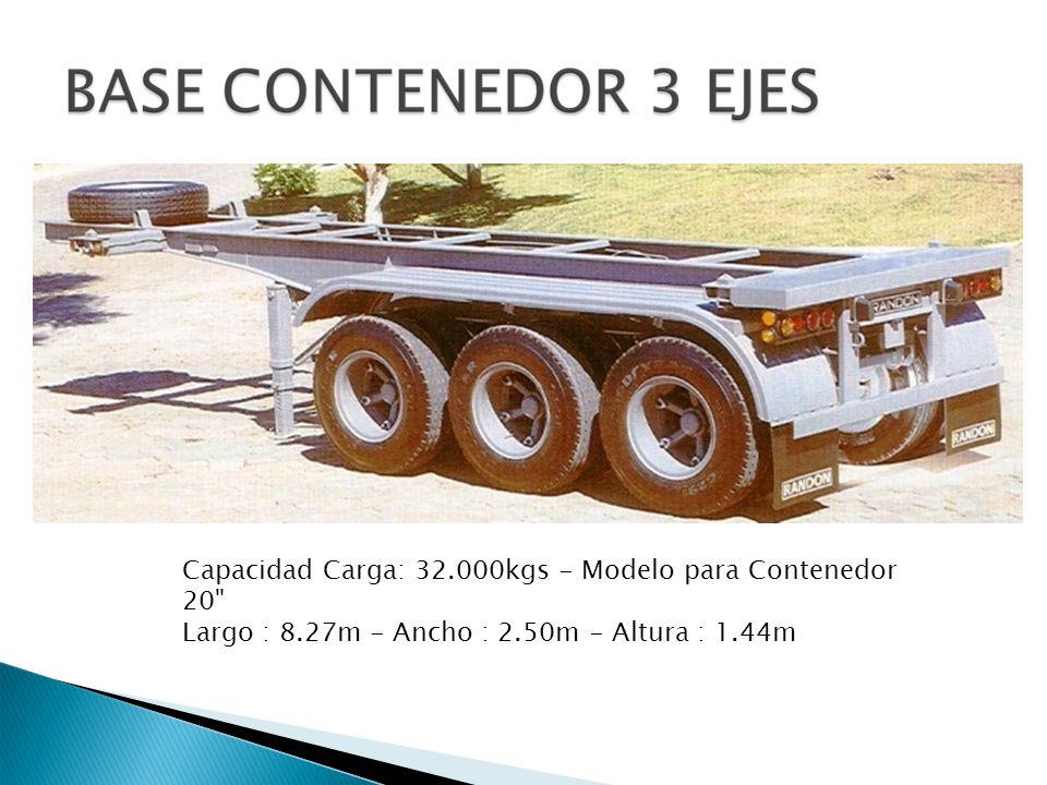 Capacidad Carga: 32. 000kgs - Modelo para Contenedor 20 Largo : 8