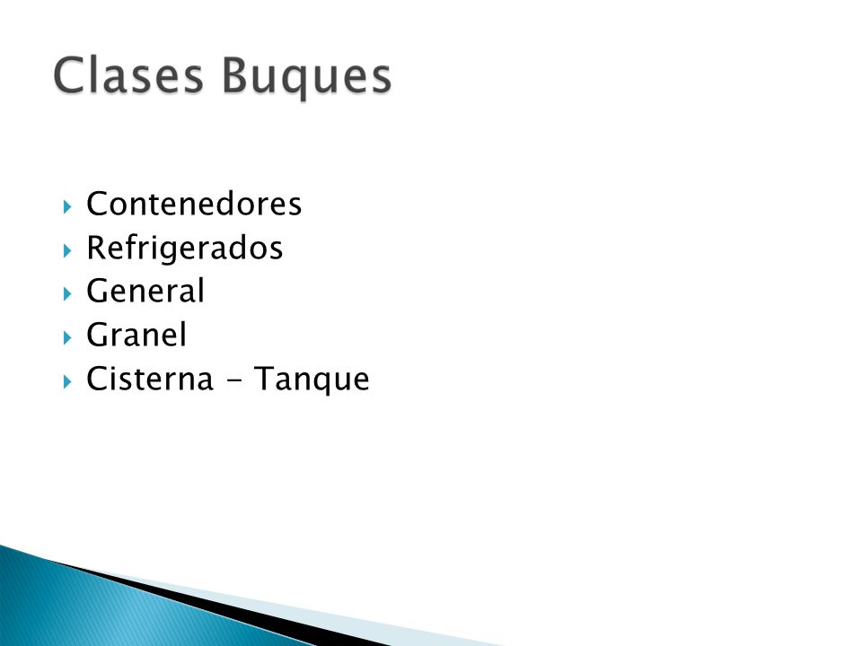 Contenedores Refrigerados General Granel Cisterna - Tanque