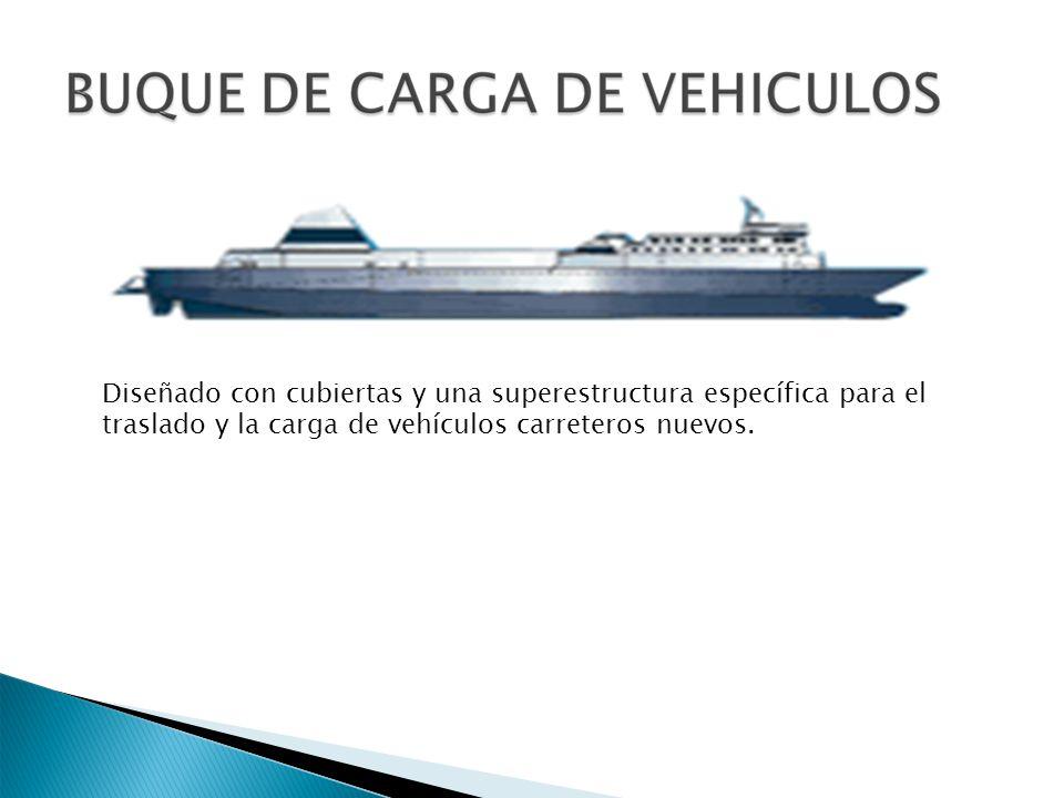 Diseñado con cubiertas y una superestructura específica para el traslado y la carga de vehículos carreteros nuevos.