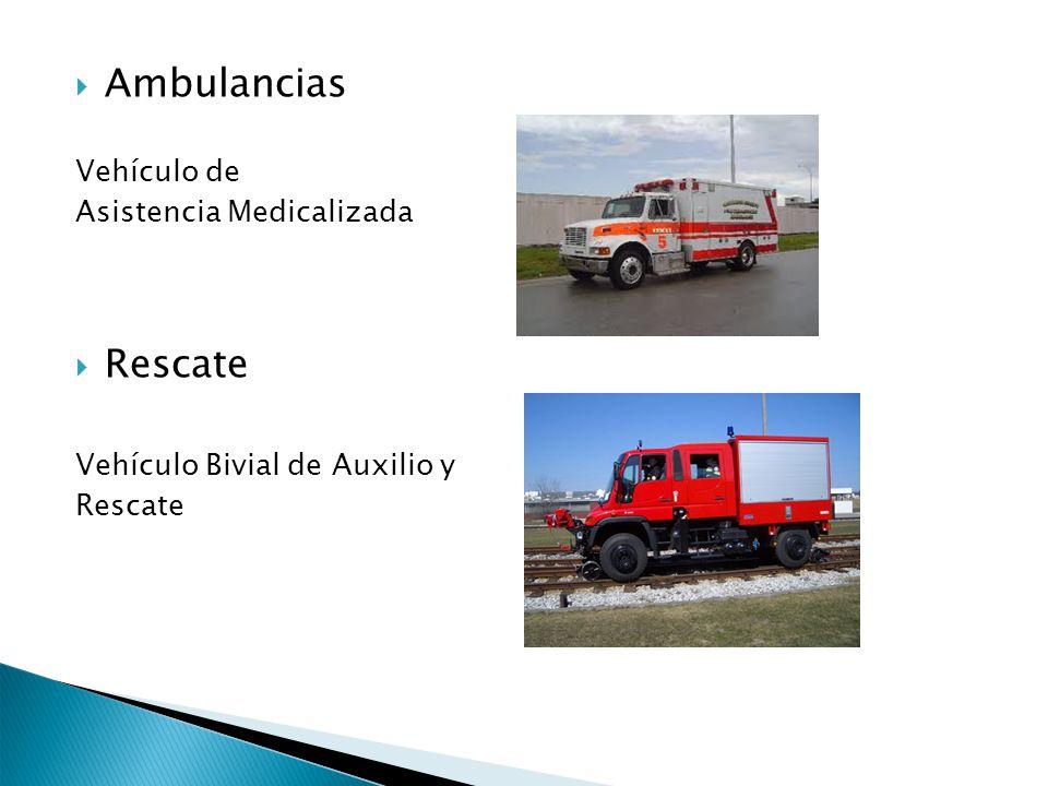 Ambulancias Rescate Vehículo de Asistencia Medicalizada