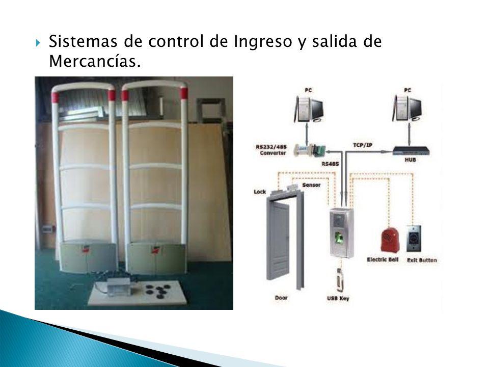 Sistemas de control de Ingreso y salida de Mercancías.