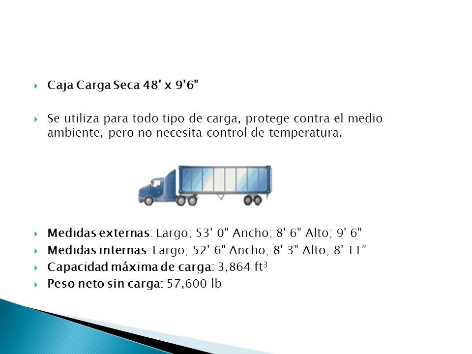 Caja Carga Seca 48 x 9 6 Se utiliza para todo tipo de carga, protege contra el medio ambiente, pero no necesita control de temperatura.