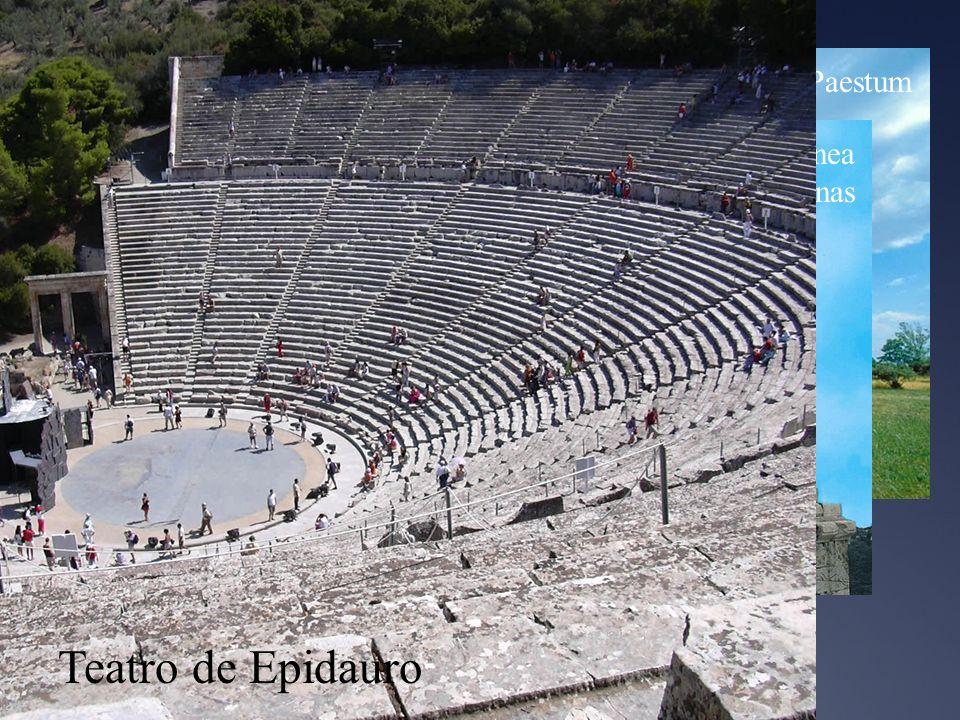 Ejemplos Teatro de Epidauro Templo de Hera, Paestum