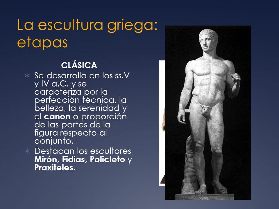 La escultura griega: etapas