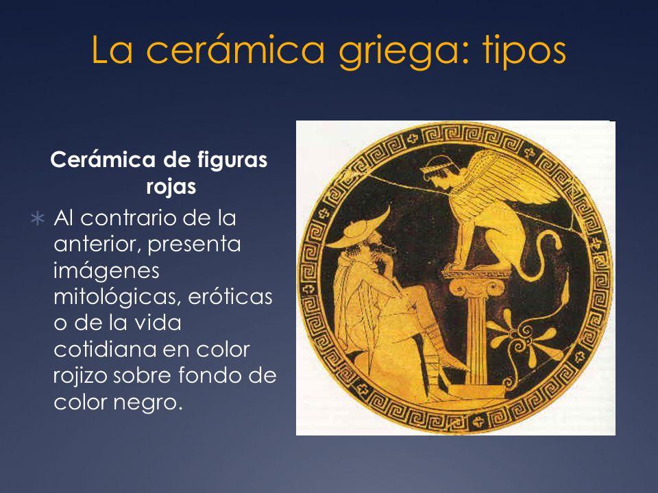 La cerámica griega: tipos