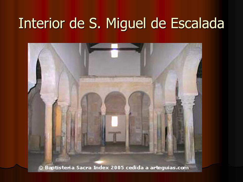 Interior de S. Miguel de Escalada