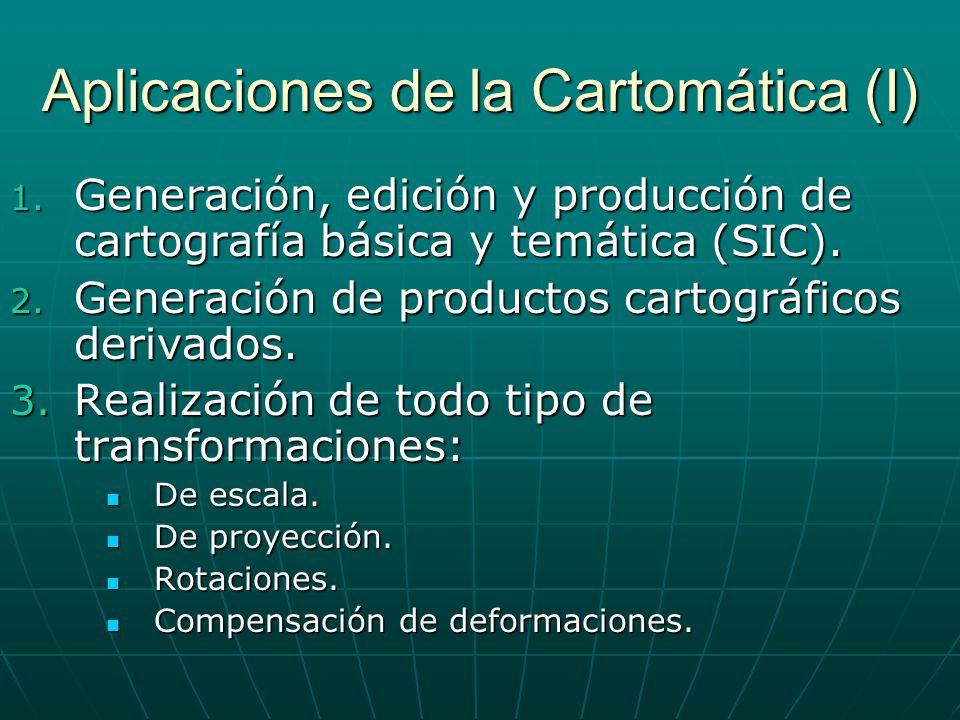 Aplicaciones de la Cartomática (I)