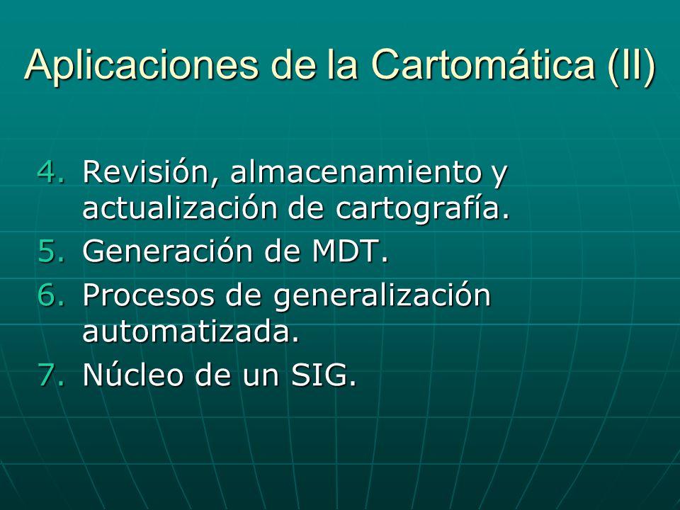 Aplicaciones de la Cartomática (II)
