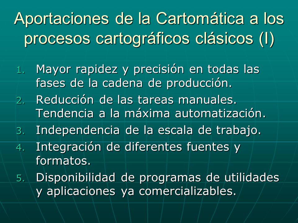 Aportaciones de la Cartomática a los procesos cartográficos clásicos (I)