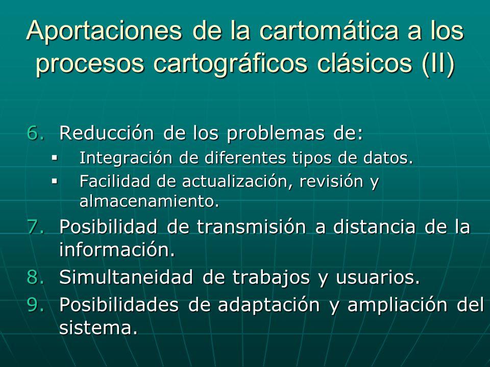 Aportaciones de la cartomática a los procesos cartográficos clásicos (II)
