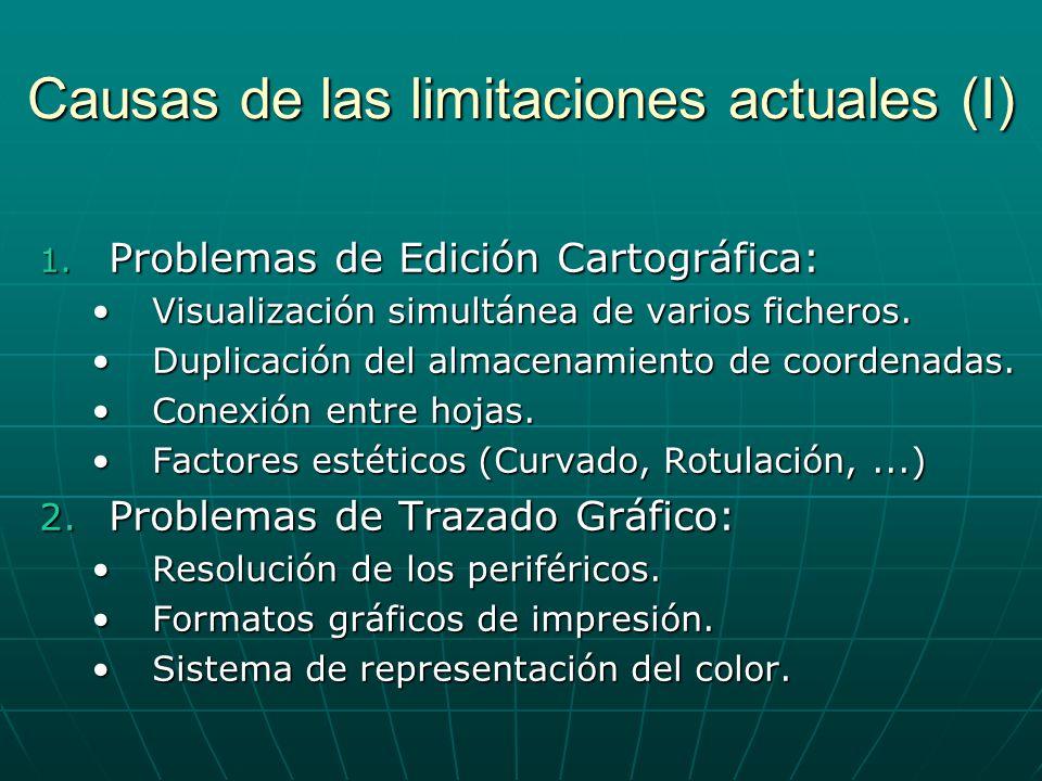 Causas de las limitaciones actuales (I)