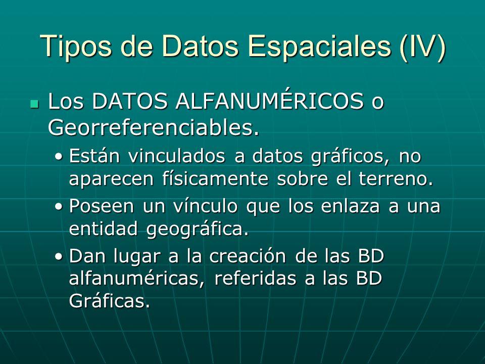 Tipos de Datos Espaciales (IV)