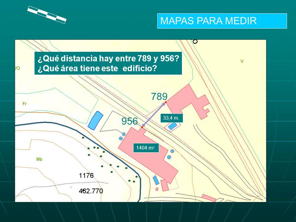 MAPAS PARA MEDIR 789 956 ¿Qué distancia hay entre 789 y 956