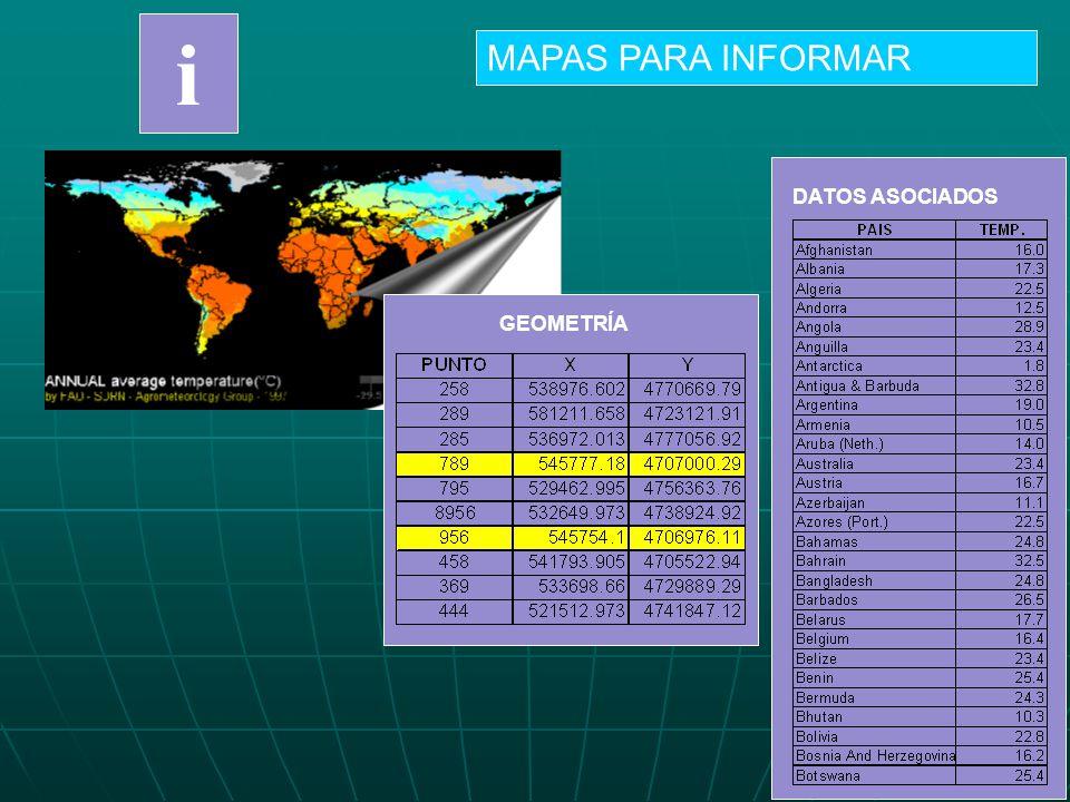 i MAPAS PARA INFORMAR DATOS ASOCIADOS GEOMETRÍA