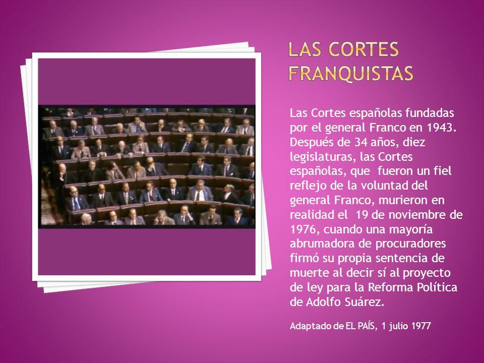 Las Cortes franquistas