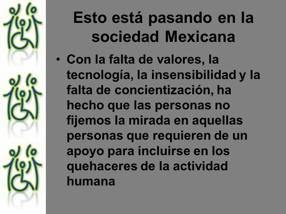 Esto está pasando en la sociedad Mexicana