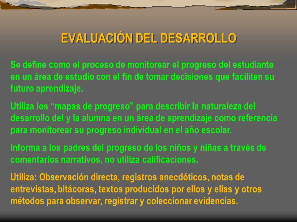 EVALUACIÓN DEL DESARROLLO