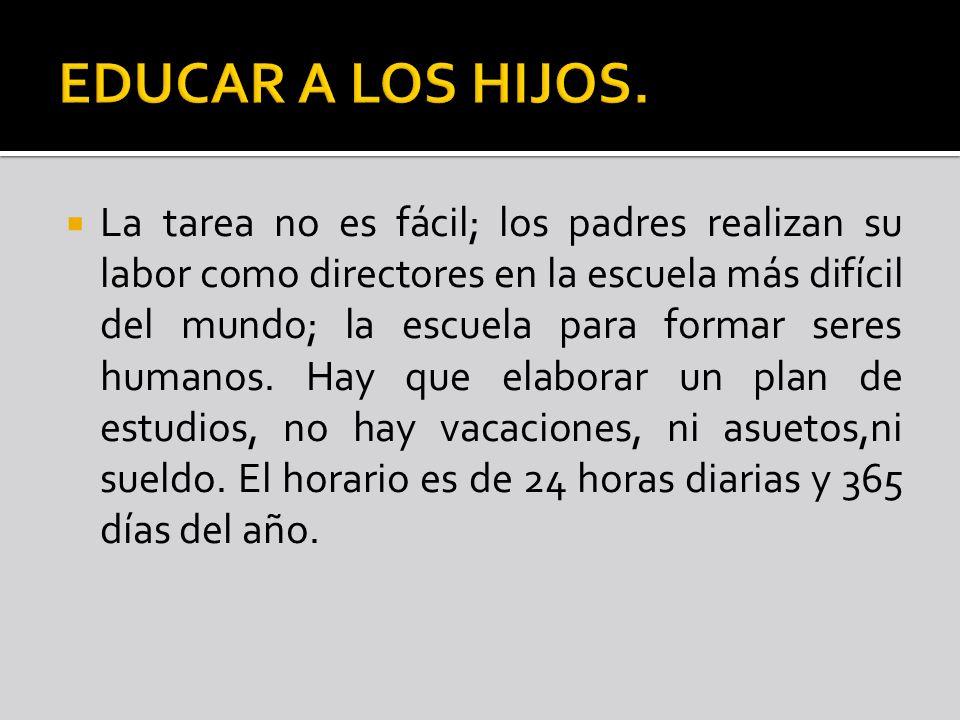 EDUCAR A LOS HIJOS.