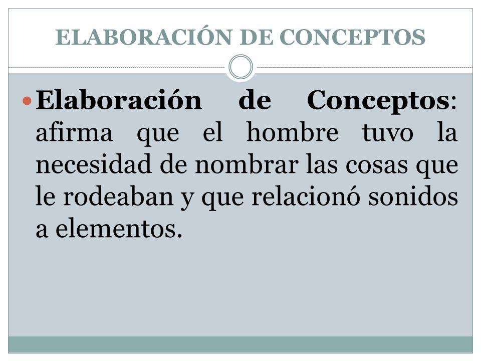 ELABORACIÓN DE CONCEPTOS