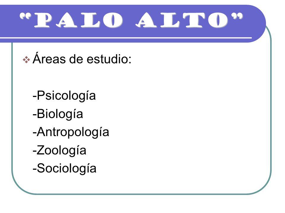 PALO ALTO Áreas de estudio: -Psicología -Biología -Antropología