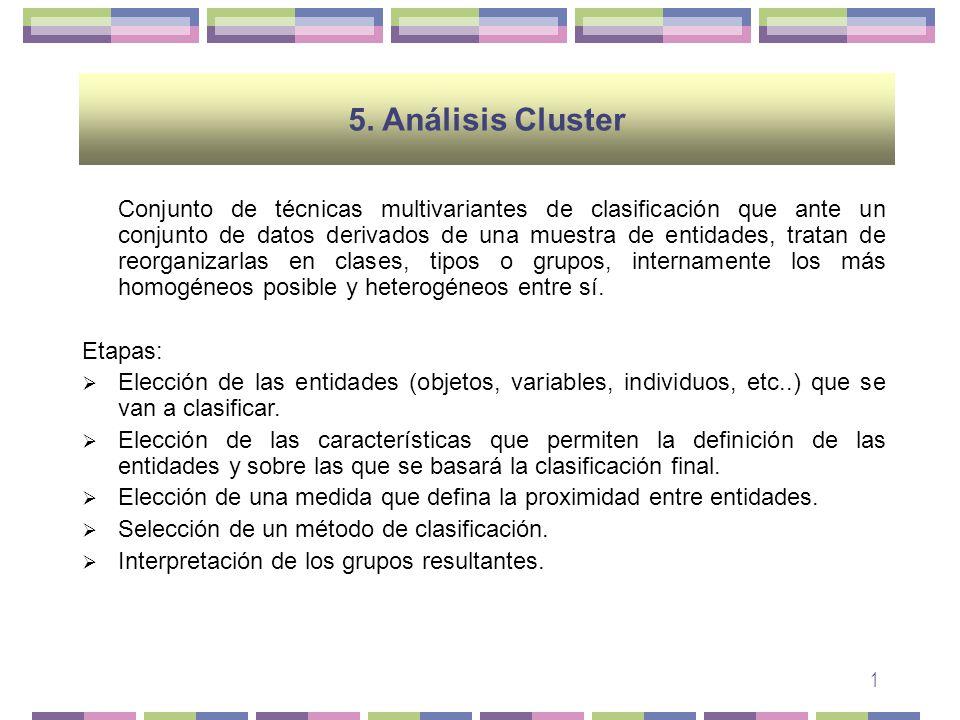 5. Análisis Cluster Etapas:
