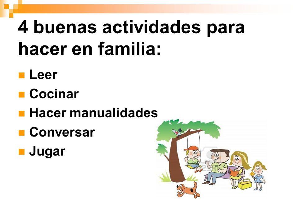 4 buenas actividades para hacer en familia: