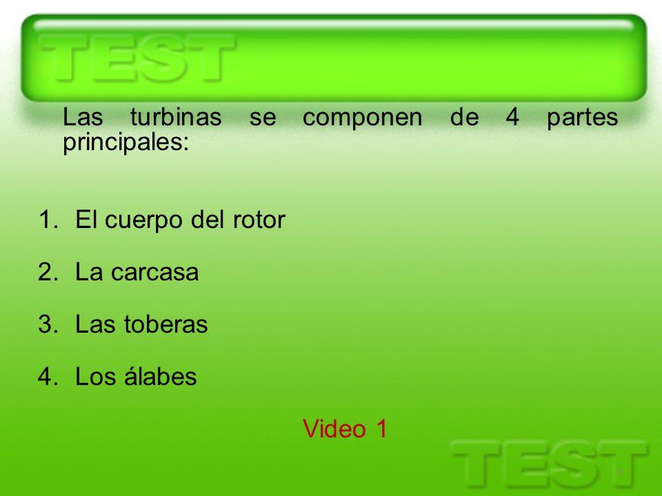 Las turbinas se componen de 4 partes principales: