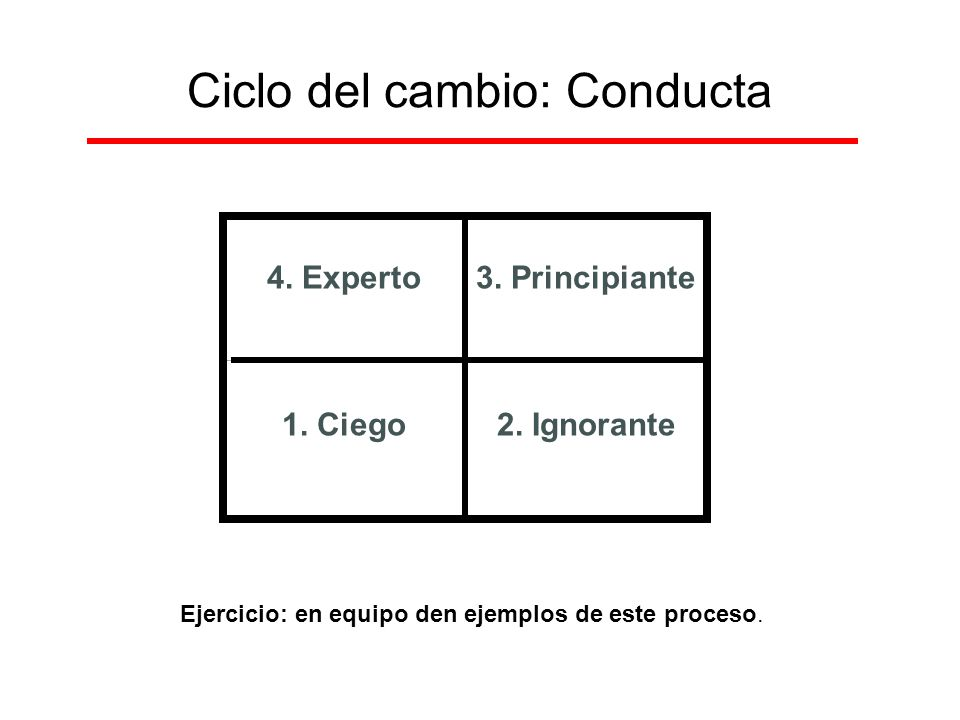 Ciclo del cambio: Conducta