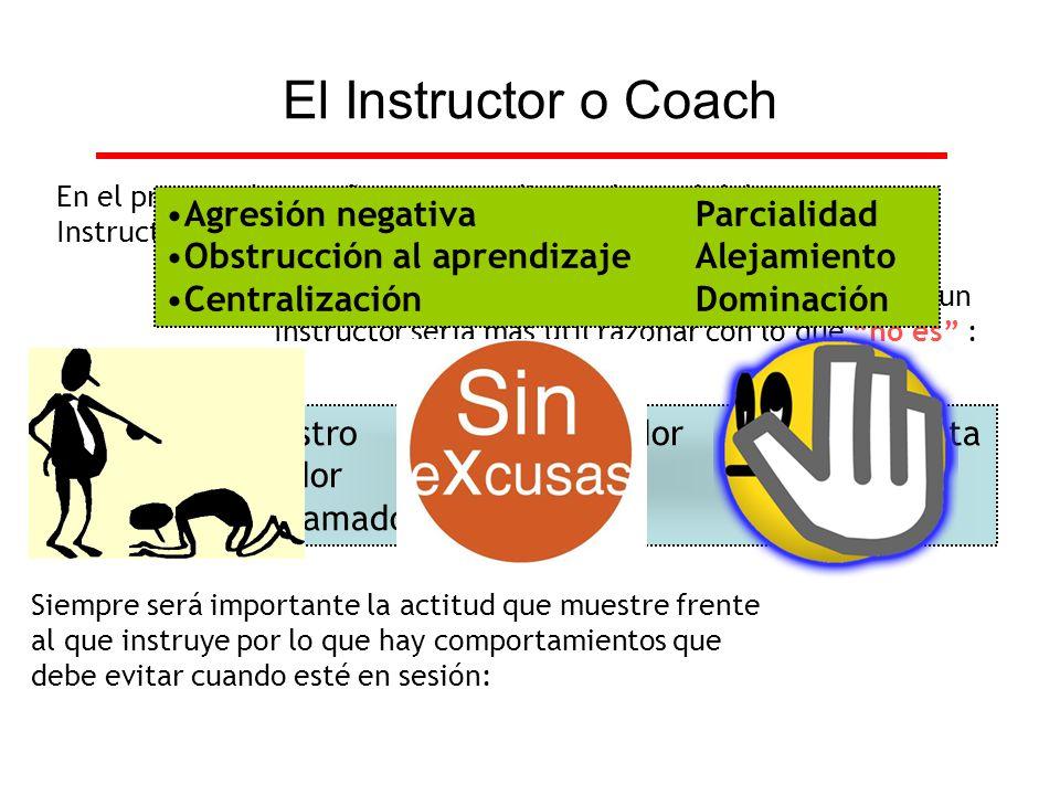 El Instructor o Coach Agresión negativa Parcialidad