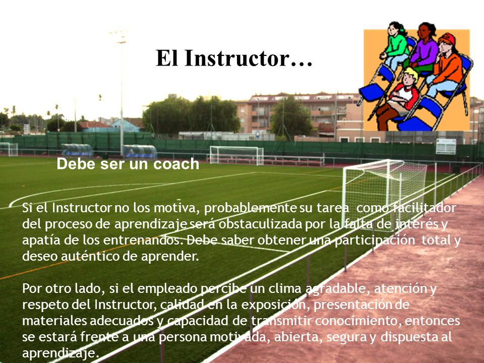 El Instructor… Debe ser un coach
