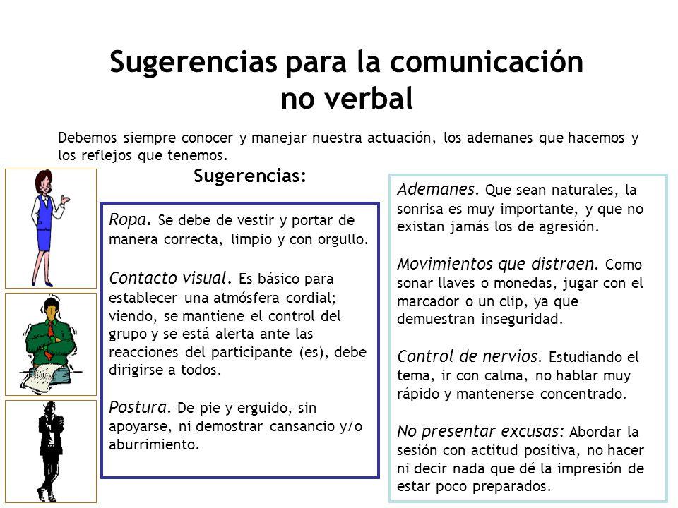 Sugerencias para la comunicación