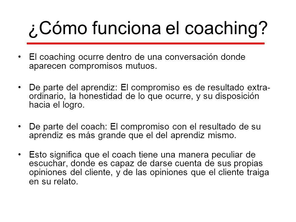 ¿Cómo funciona el coaching
