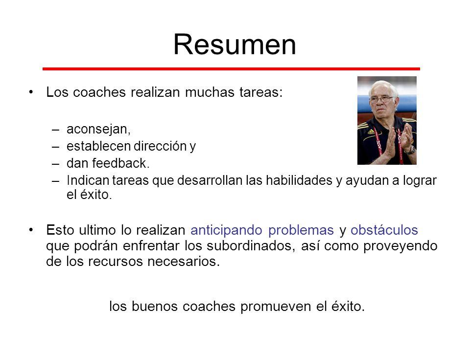 los buenos coaches promueven el éxito.