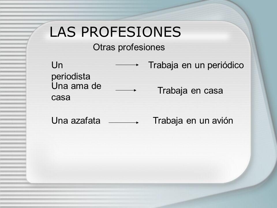 LAS PROFESIONES Otras profesiones Un periodista