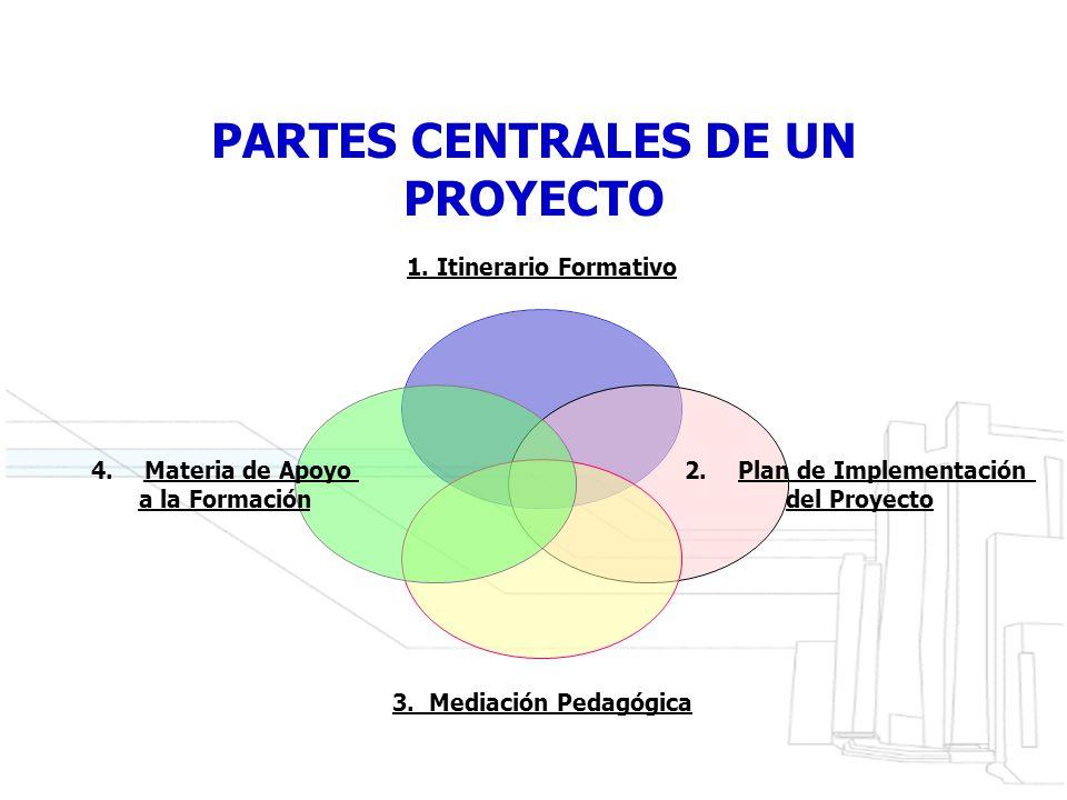 PARTES CENTRALES DE UN PROYECTO