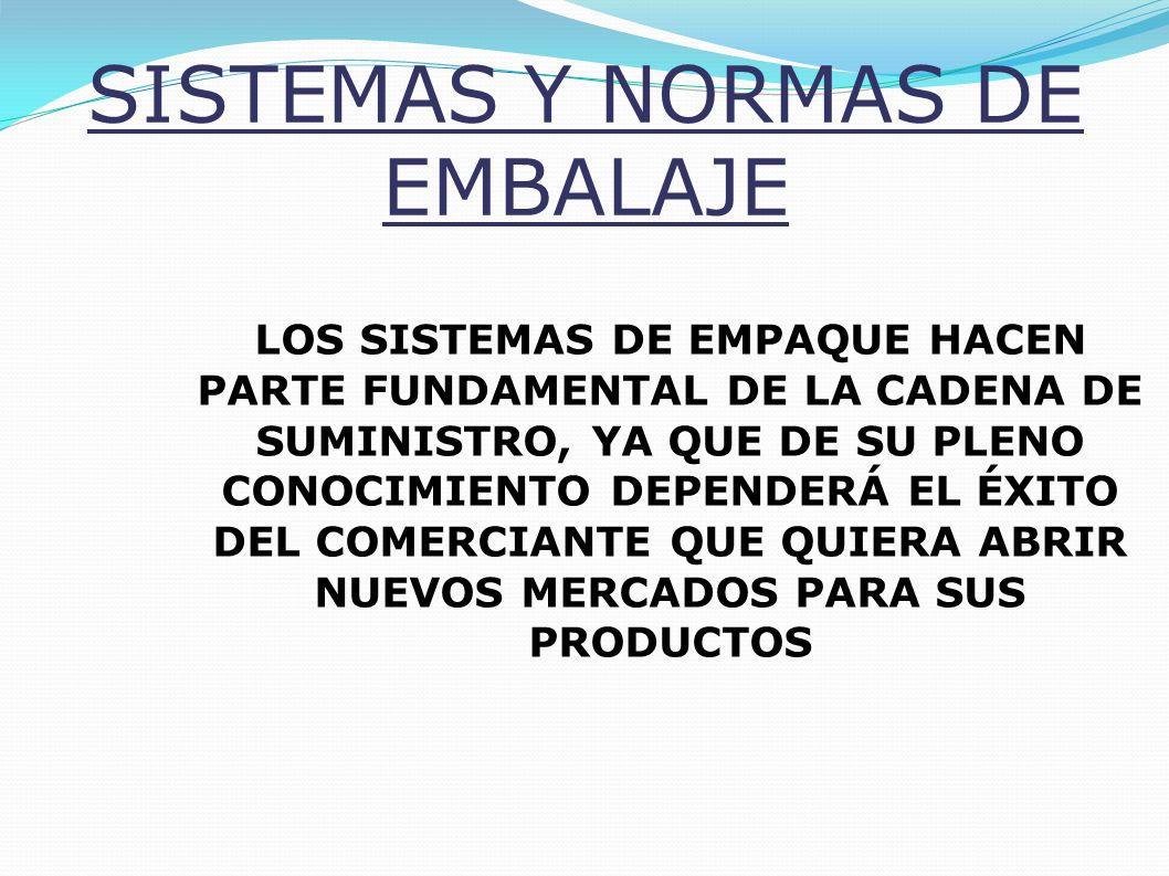 SISTEMAS Y NORMAS DE EMBALAJE